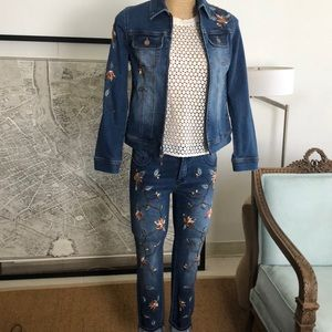 New Chicos suits pant and jacket embroidered